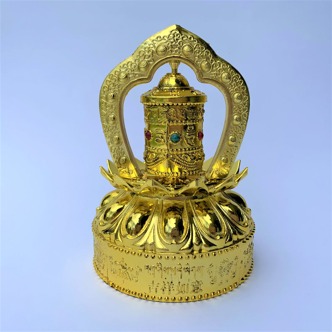 prayer wheel standing solar self-turn compassion front