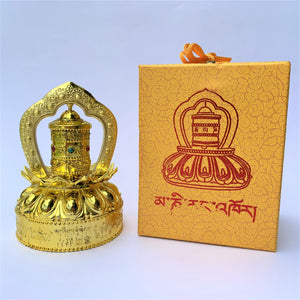 prayer wheel standing solar self-turn compassion gift box