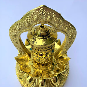 prayer wheel standing solar self-turn compassion top