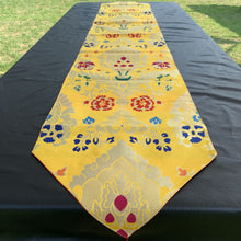 Load image into Gallery viewer, table runner yellow brocade norbu long