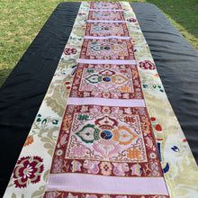 Load image into Gallery viewer, table runner white brocade double vajra long