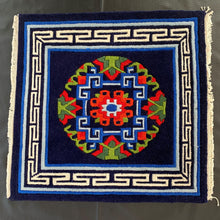 Load image into Gallery viewer, tibetan carpet: dark blue front