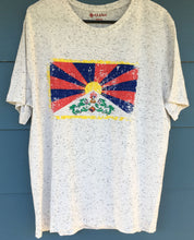 Load image into Gallery viewer, Tibetan Flag White Flecked T-Shirt