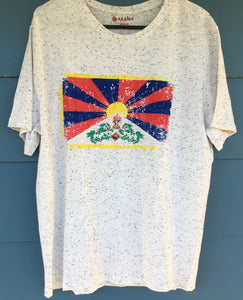 Tibetan Flag White Flecked T-Shirt