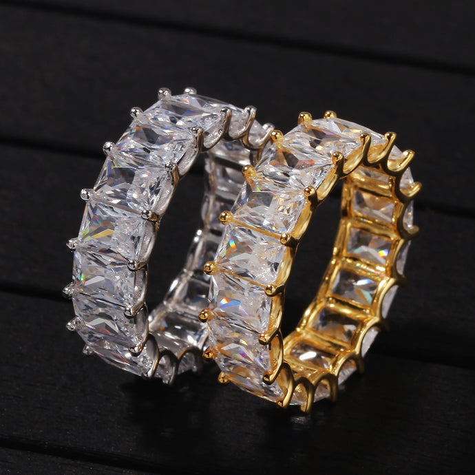 IcedOut Baguette Ring