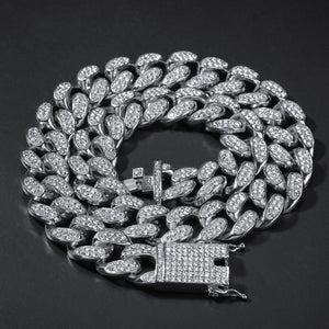 20mm IcedOut Kette & Armband