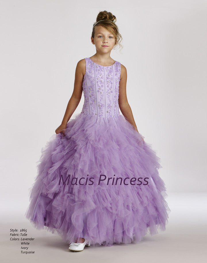 Macis Design #1865 Flower Girl and Pageant Dress