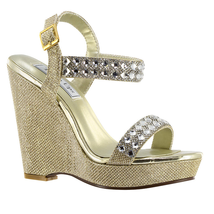 Brynn Wedge Sandal heel - Gold or Silver