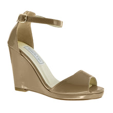 Holly Patent Leather Platform Wedge -Nude