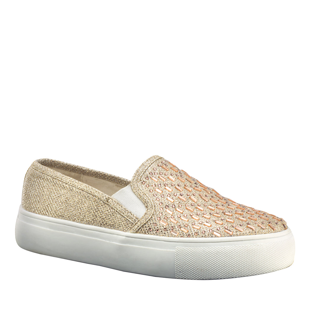 Jewel Shimmer Sneaker - Gold or Silver