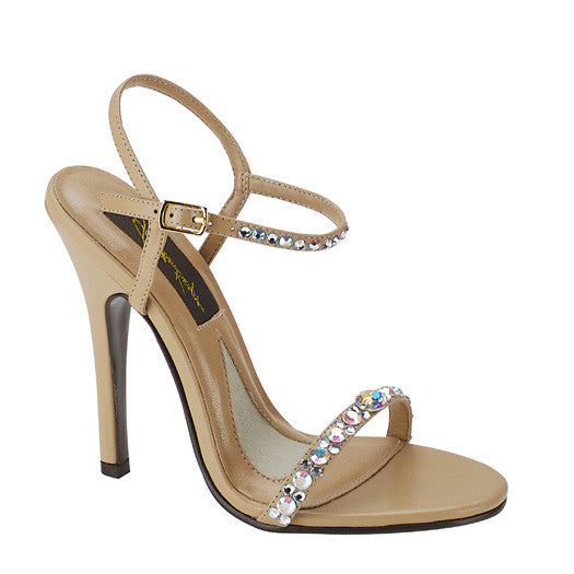 Savannah Taupe Sandal with Crystals