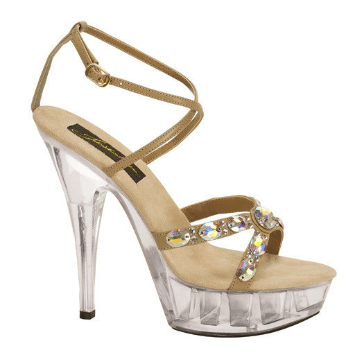 Johnathan Kayne Juno Taupe with Swarovski Crystals Shoes