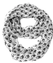 Owl Printed Infinity Scarf