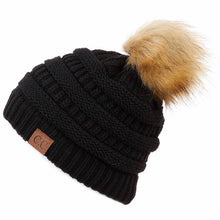 CC Knit Beanie with Pom Pom