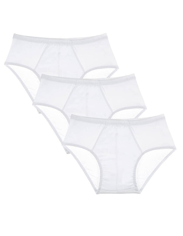 Men's Hidden Elastic White Panties- 3 Pieces