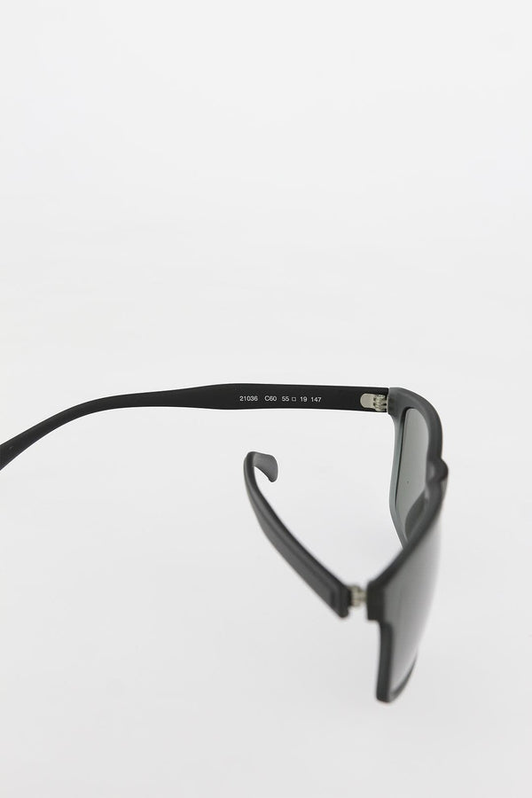 Men's Black Square-Frame Sunglasses - guzlaar