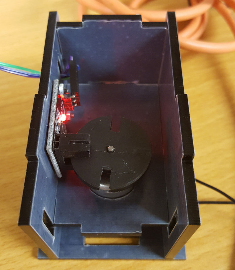 Detect the rpm of your motor using a Photoelectric IR Through Beam Sensor