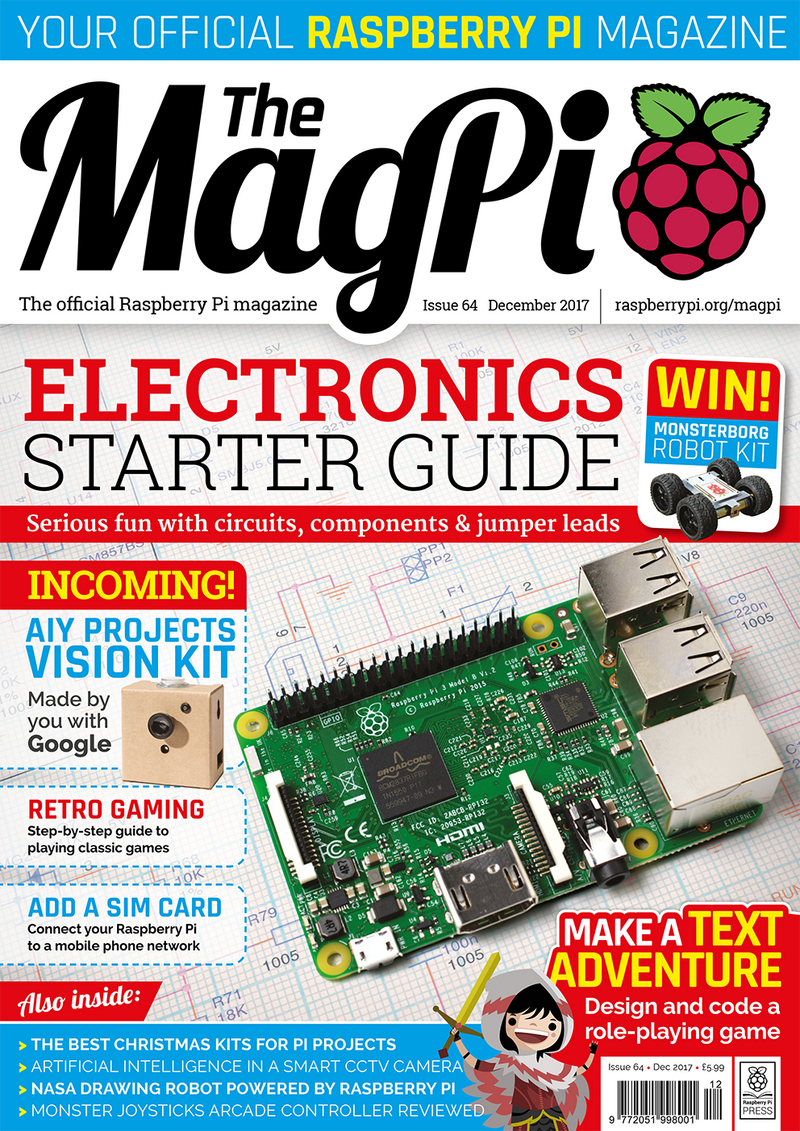 Raspberry Pi Roundup - a new issue of The MagPi, a Twitter snow globe and a way to use a Zero's GPIO from your PC