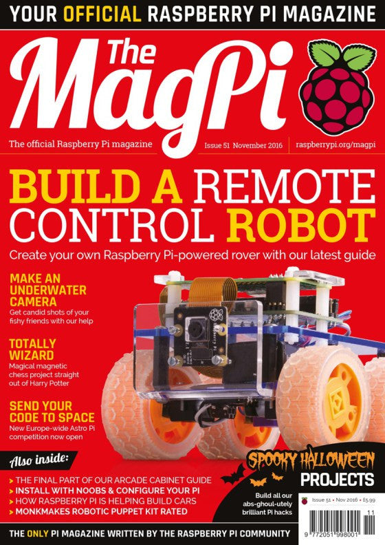 A new issue of the MagPi, a nationwide schools competition and a scary mask in a box in today's Raspberry Pi Roundup