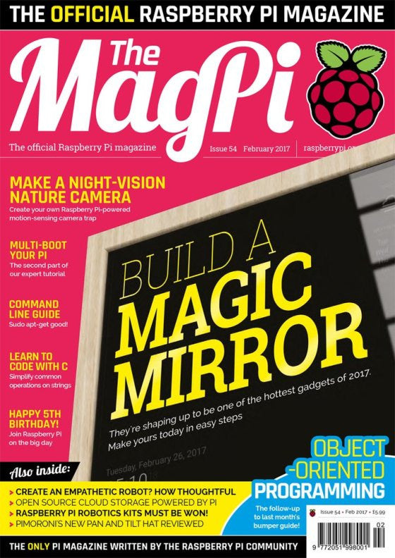 Raspberry Pi Roundup features a new MagPi, a new magazine for educators and experiments with a wireless ESP8266 board