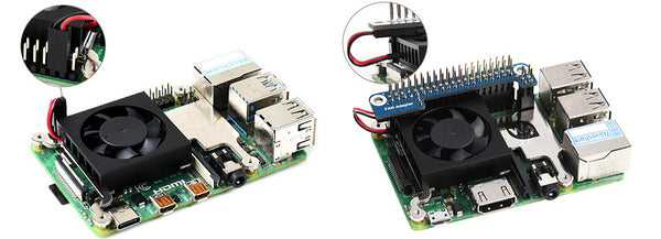 Waveshare low-profile cooling fan GPIO adapter