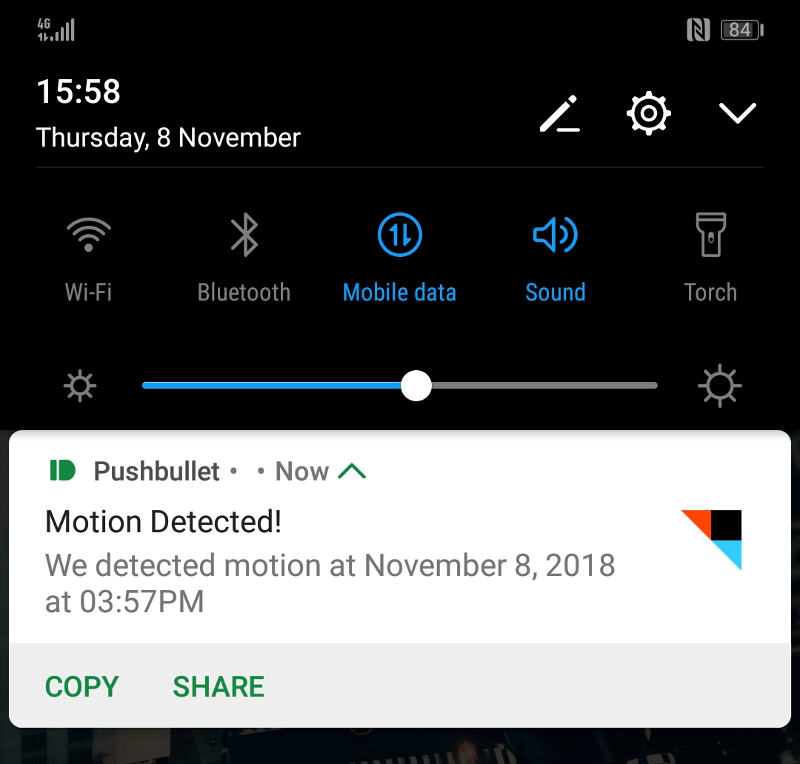 Pushbullet Notification