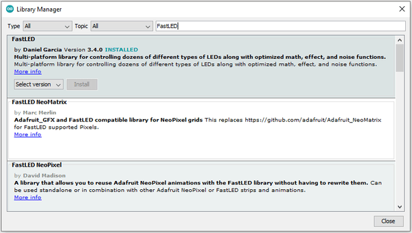 FastLED Library Install