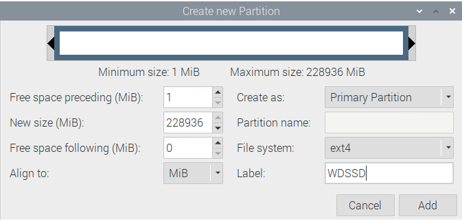 GParted Partition