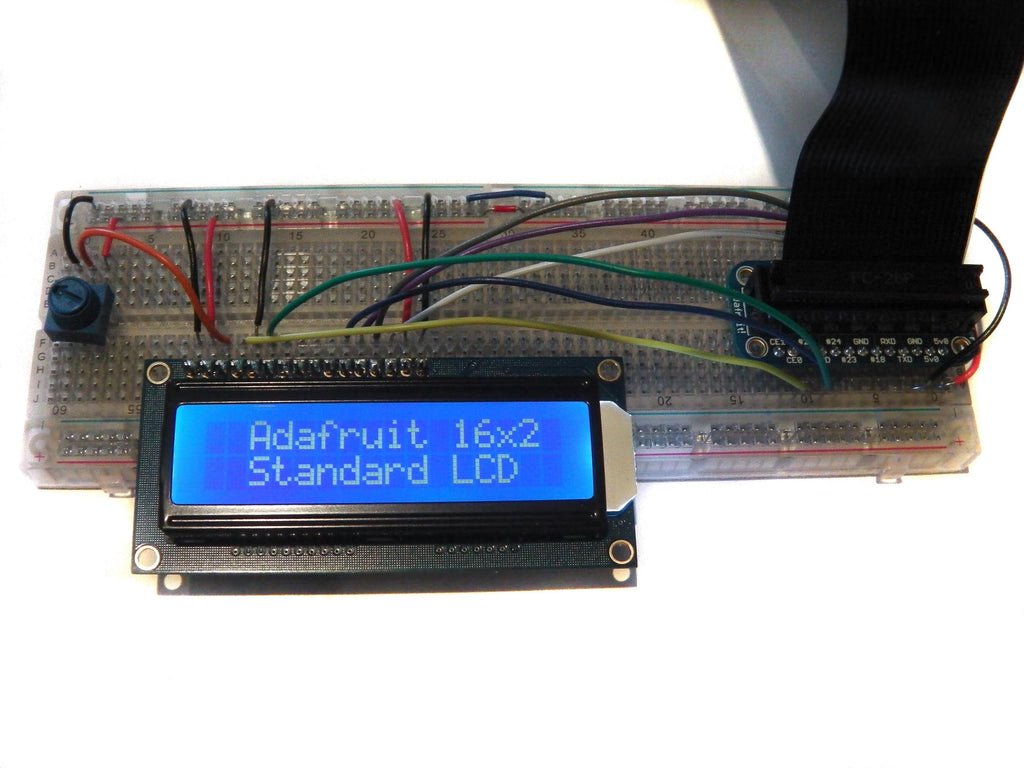 How to drive a Character LCD display using the Raspberry Pi