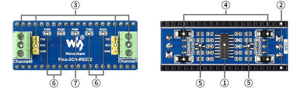 Pico RS232 module onboard features
