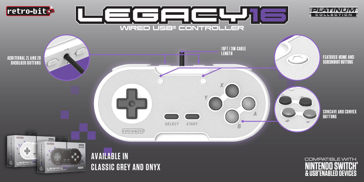 retro bit legacy16usb wired features