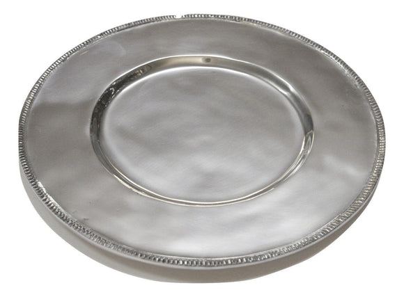 Round charger plate with beads - DeCampos