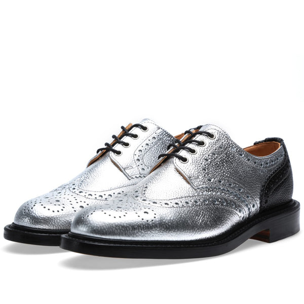 Silver brogues womens shoes