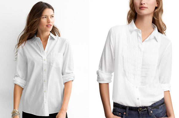 Womens white cotton tailored shirt GAP.com