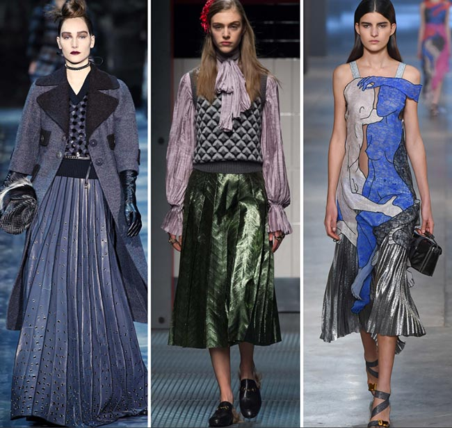 Spring 2016 fashion trends pleated skirts and accessories