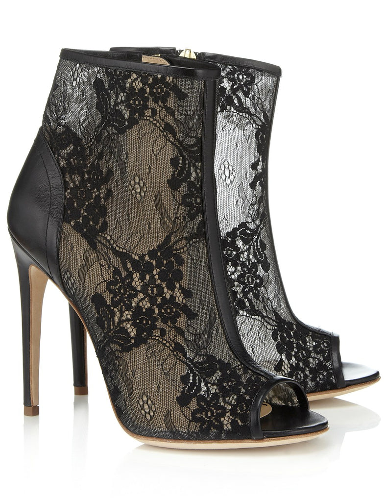 Ladies black lace shoes Spring 2016 fashion trends