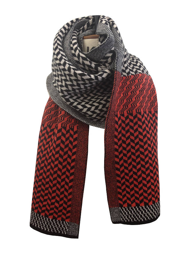 Womens and Mens patterned scarf