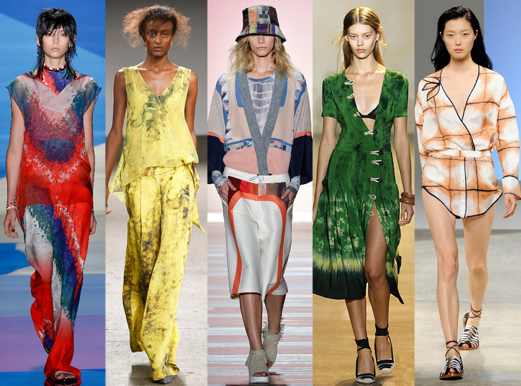 Spring 2016 fashion trends tie dye and patchwork accessories and hats