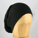 Merino Wool Slouchy Hat (Black)