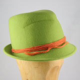 Womens Fedora Green Felt