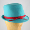 Womens Fedora Blue Felt