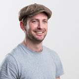 Irish Tweed Cap Brown Mens