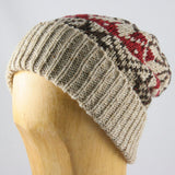 Fair Isle Chunky Wool Knit Hat- Ladies and Mens