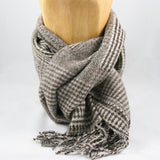 Cashmere Scarf Brown Wool Merino