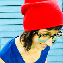 100% Merino Wool Beanie (Signal Red)