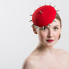 Womens Steampunk Pillbox Hat (Red)