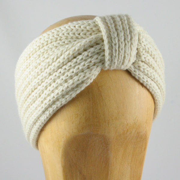 Knitted Turban Cream Hat
