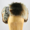 Womens Faux Fur Headband (with Studded Detail)