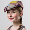 Patchwork Cap Womens Knitted Cap