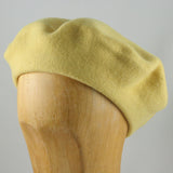 Classic Wool Beret (Yellow)